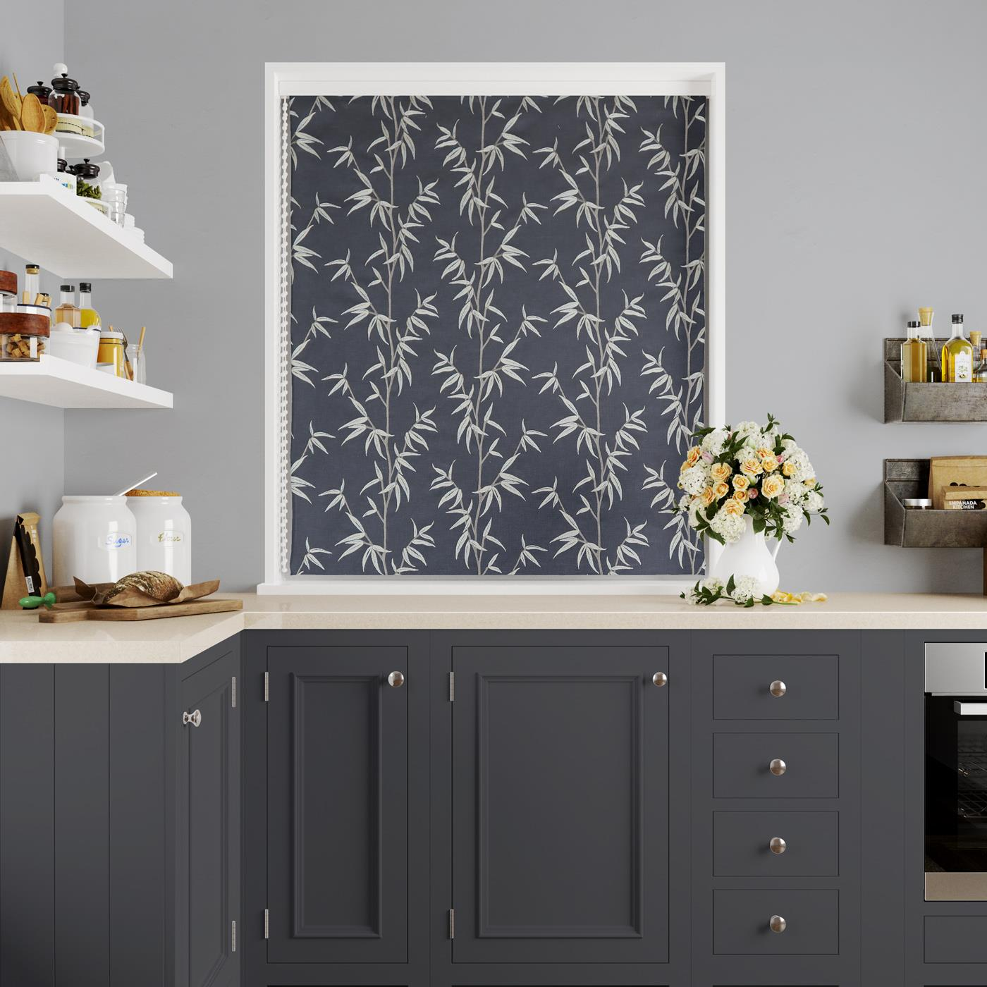 Sumi Jet Made To Measure Roman Blind -  - Ideal Textiles
