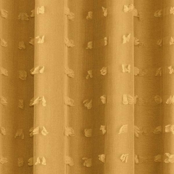 Aruba Lined Eyelet Voile Curtains Honey - Ideal Textiles