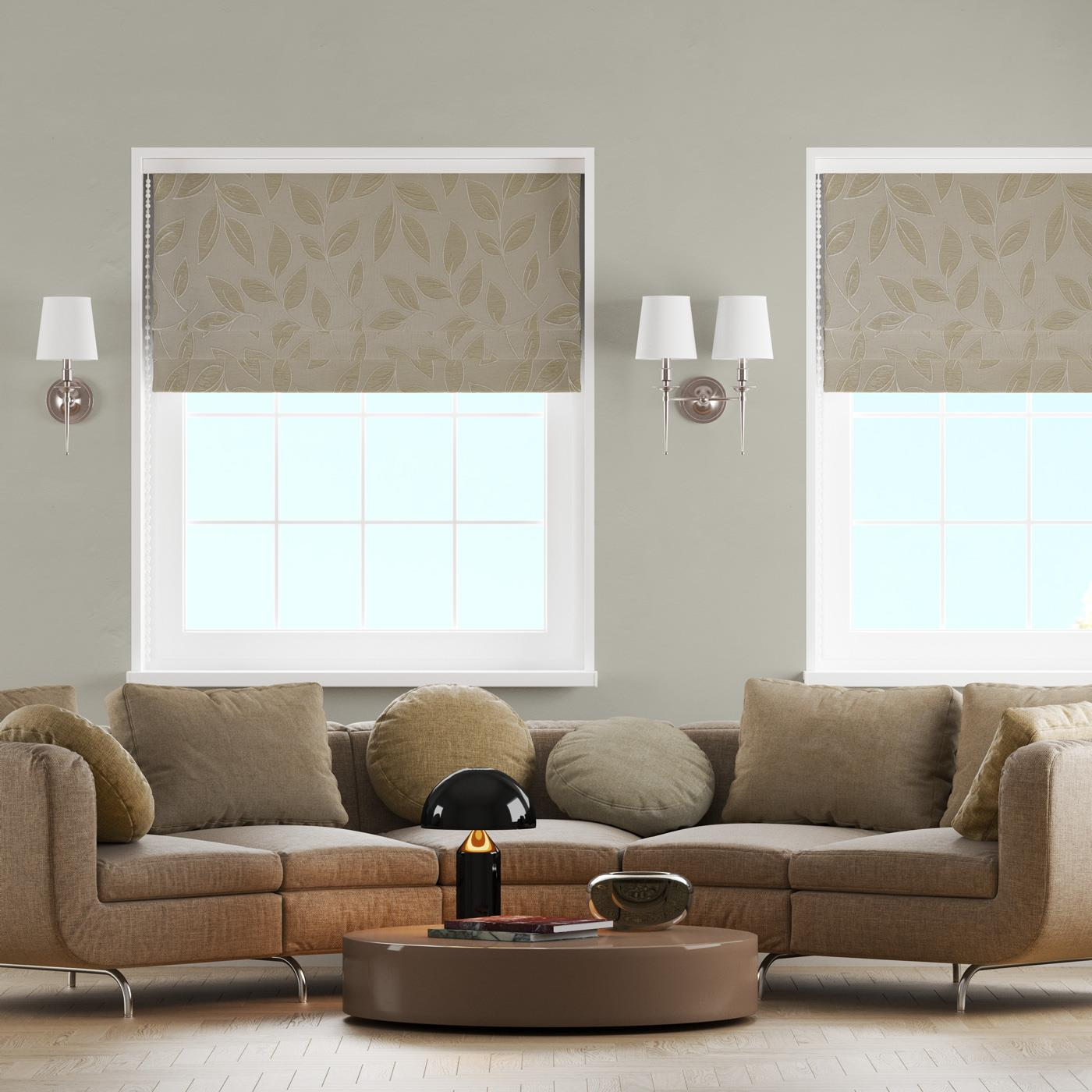 Paros Gold Made To Measure Roman Blind -  - Ideal Textiles