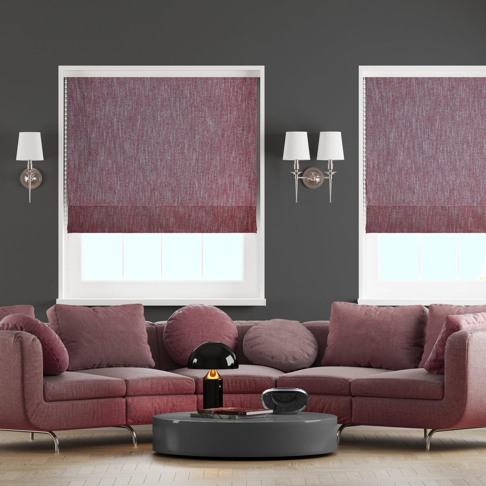 Sanday Wine Made to Measure Roman Blind -  - Ideal Textiles