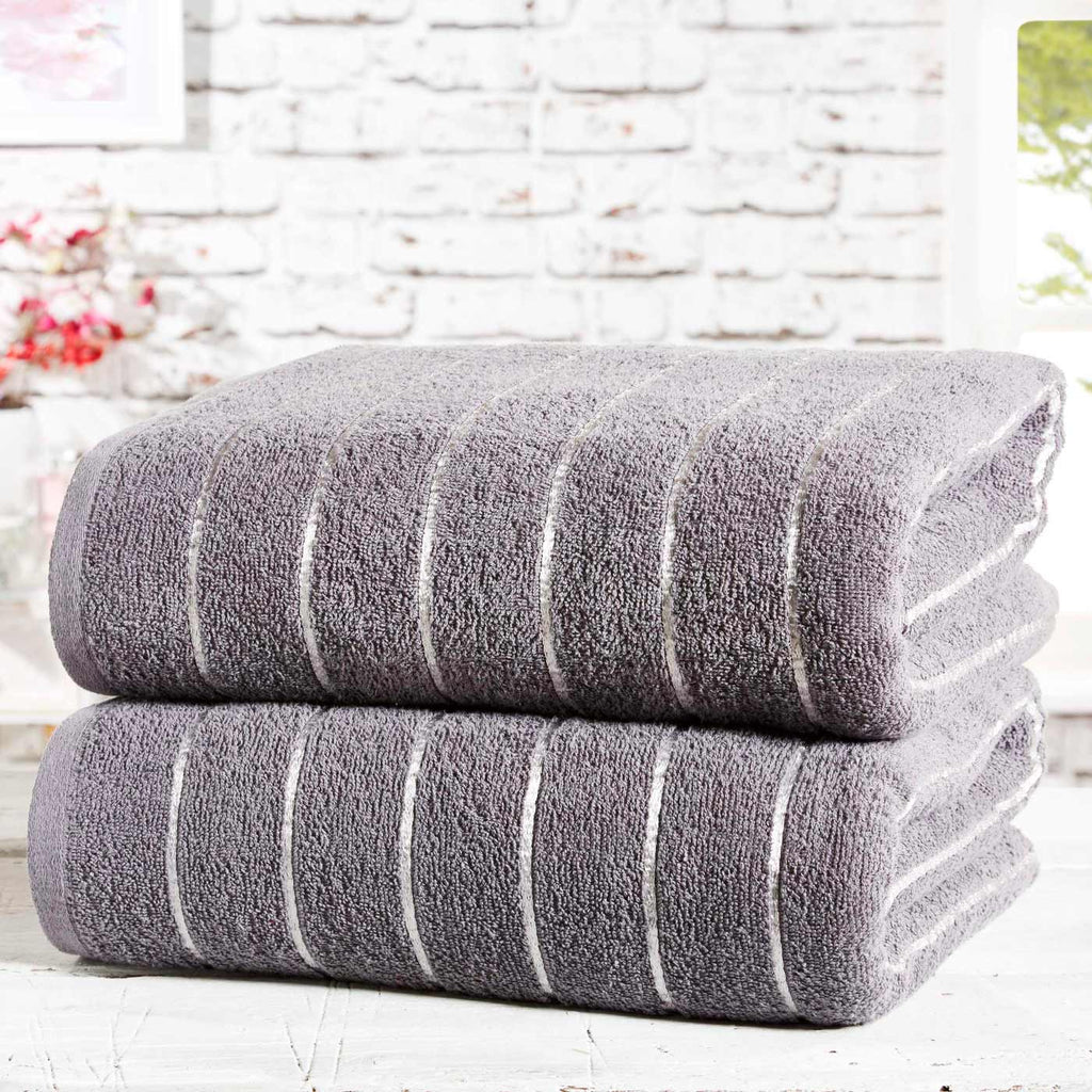 Sandringham 2 Piece Towel Bale Charcoal - Ideal Textiles