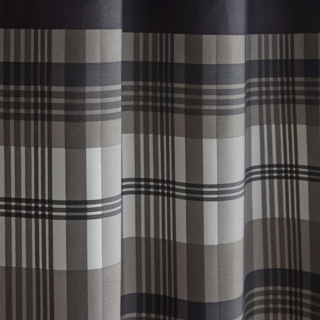 Orleans Lined Eyelet Curtains Charcoal - Ideal Textiles