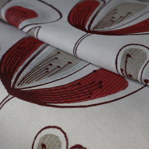 Hiona Red Made To Measure Curtains -  - Ideal Textiles
