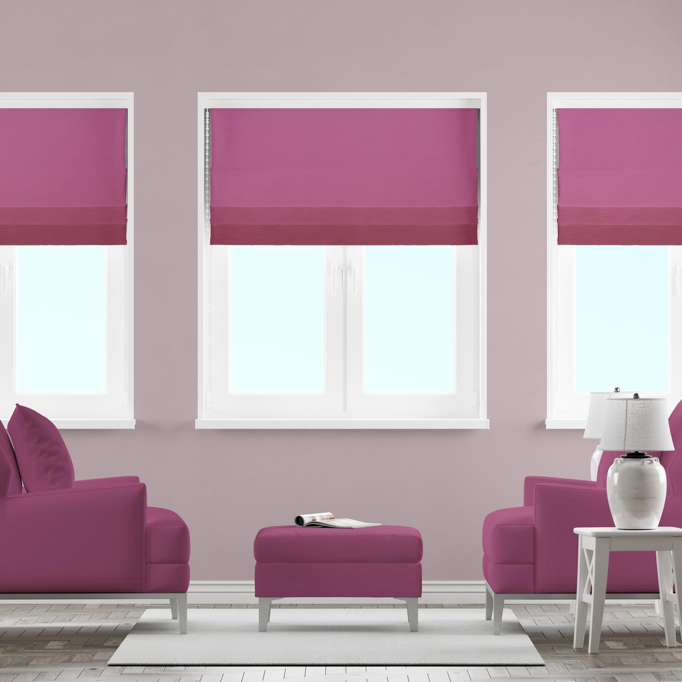 Lucida Raspberry Made To Measure Roman Blind -  - Ideal Textiles