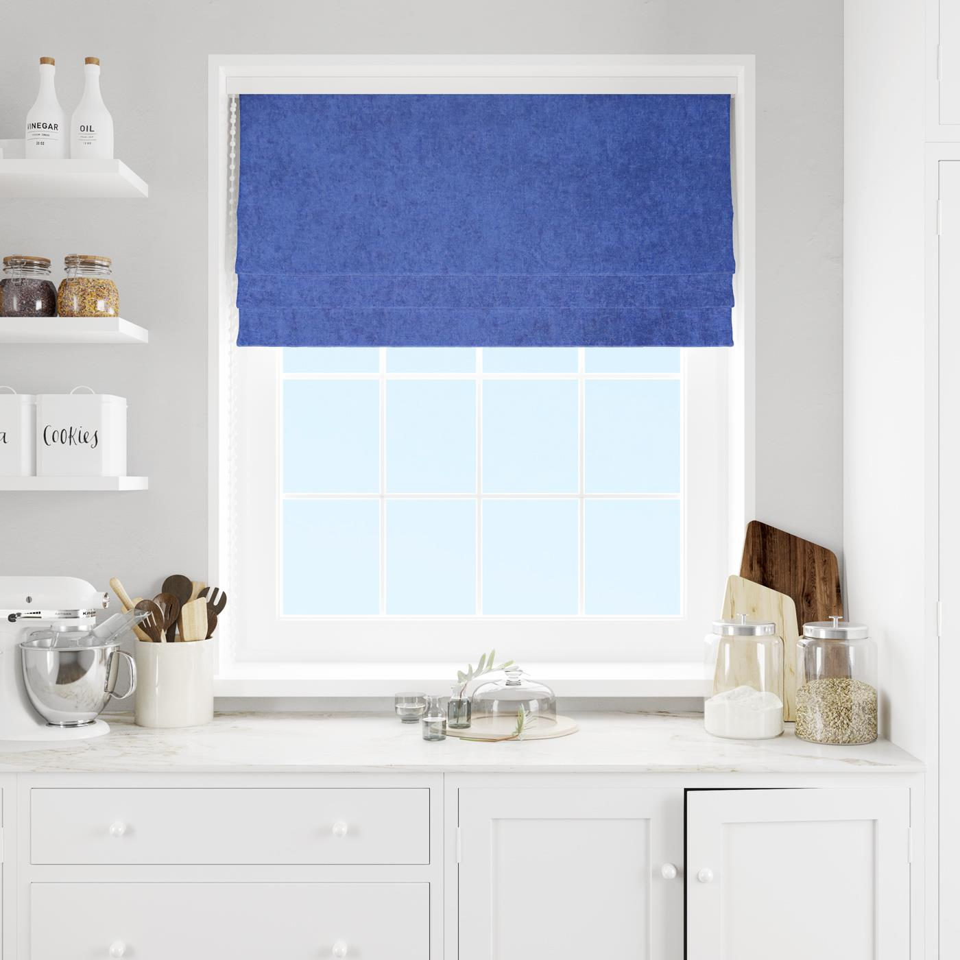 Savoy Ink Made To Measure Roman Blind -  - Ideal Textiles