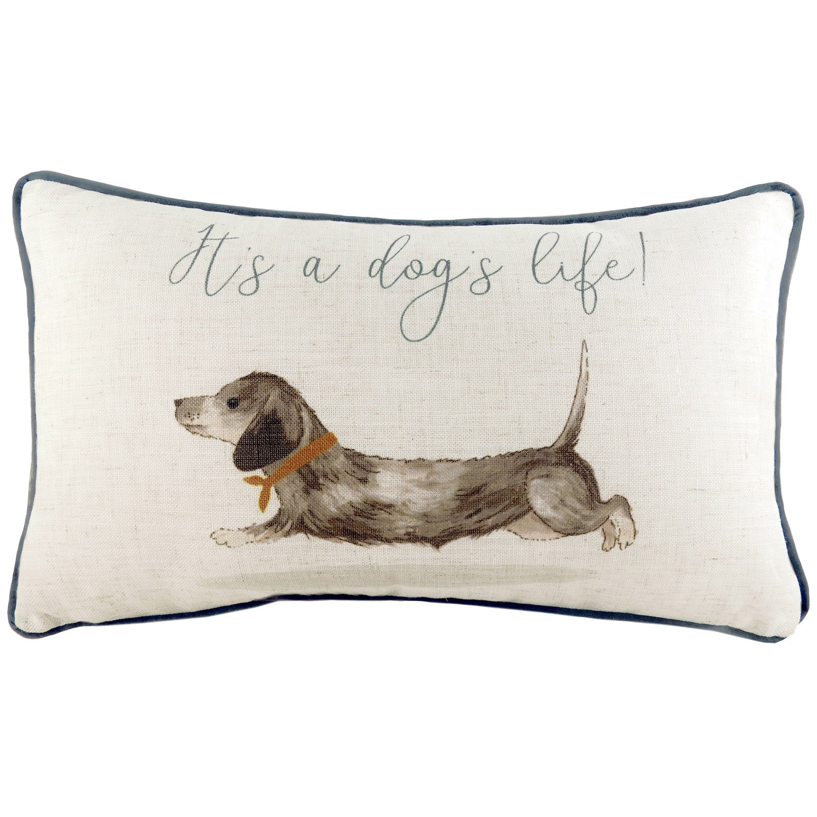 Oakwood 'It's a Dog's Life' Sausage Dog Cushion Covers 12'' x 20'' -  - Ideal Textiles