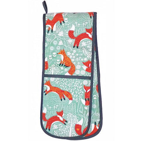 Foraging Fox Luxury 100% Cotton Double Oven Glove
