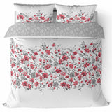 Dreams & Drapes Duvet Cover Single Gabriella Duvet Covers Red