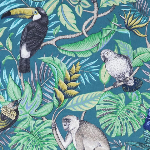 Rain Forest Lagoon Made To Measure Curtains -  - Ideal Textiles