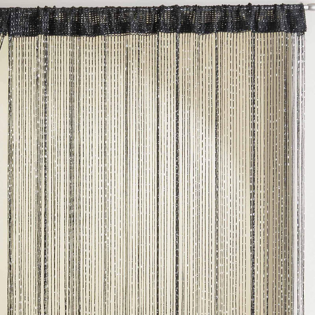 Glam Sparkle String Door Curtain Panels - Ideal Textiles