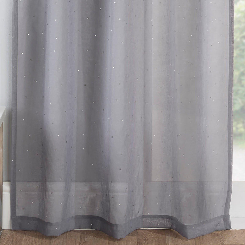 Enhanced Living Voile Curtain Grey / 55'' x 48'' Jewel Voile Curtain Panels