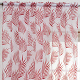 Enhanced Living Voile Curtain Red / 55'' x 48'' Fern Voile Curtain Panels