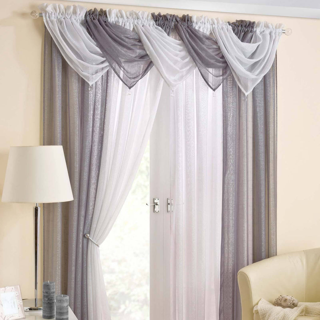Casablanca Voile Curtain Swags - Ideal Textiles