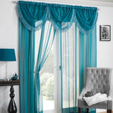 Savannah Voile Curtain Swags - Ideal Textiles