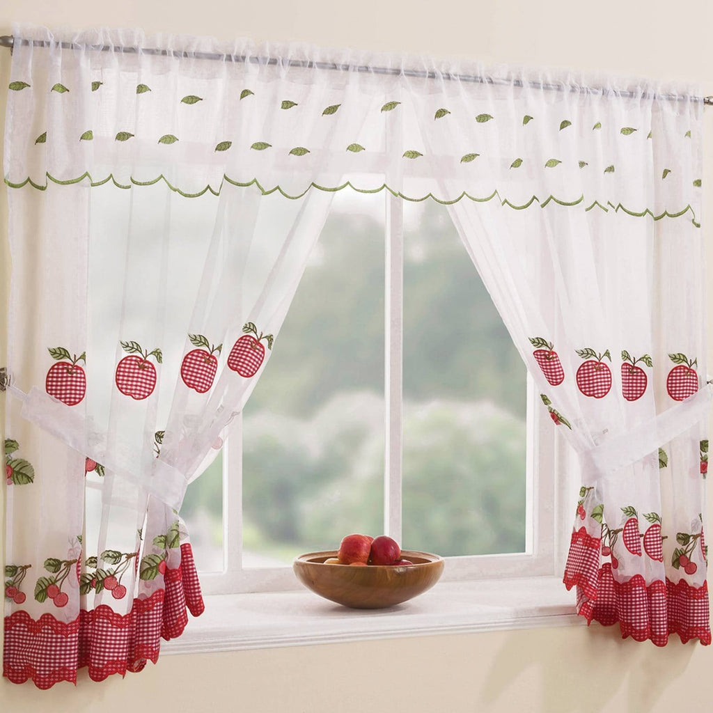 Enhanced Living Window Set Red / 98'' x 36'' Winchester Complete Window Curtain Set