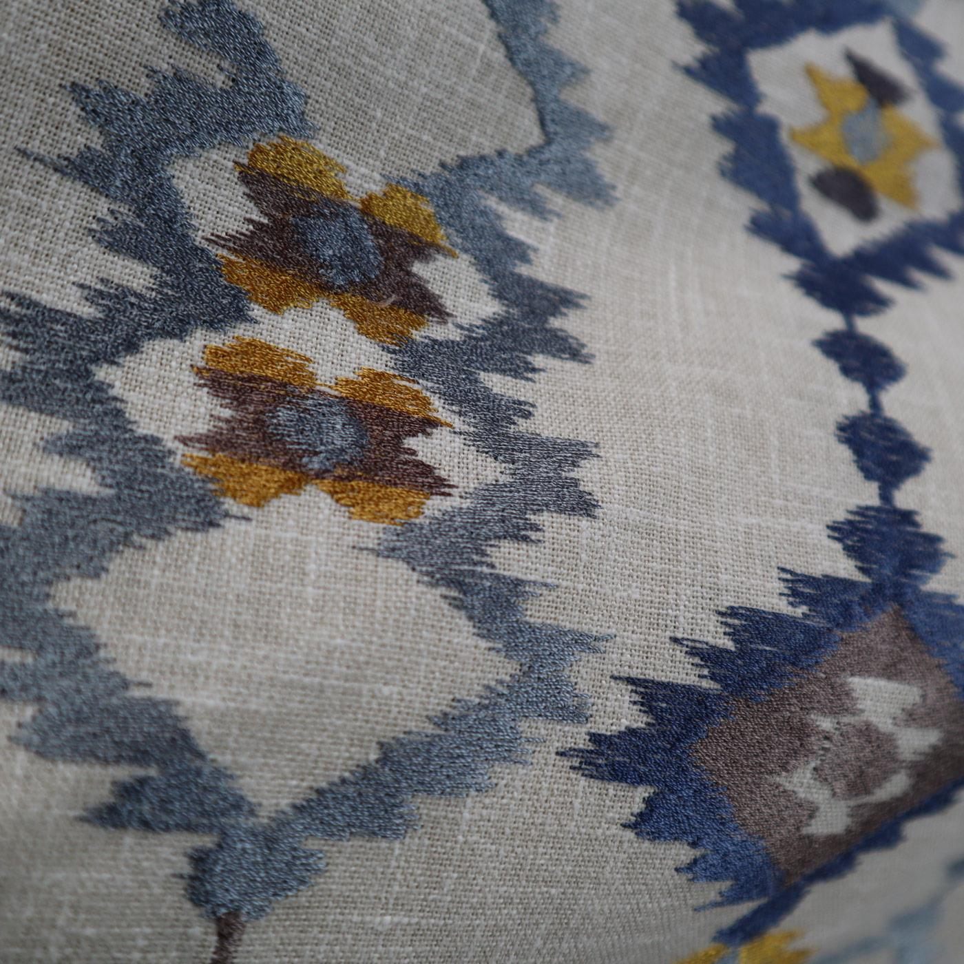 Sante Fe Indigo Made To Measure Roman Blind -  - Ideal Textiles