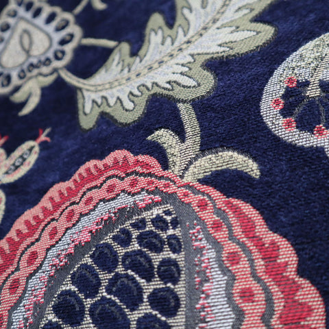 Summer Fruits Indigo Made To Measure Curtains -  - Ideal Textiles