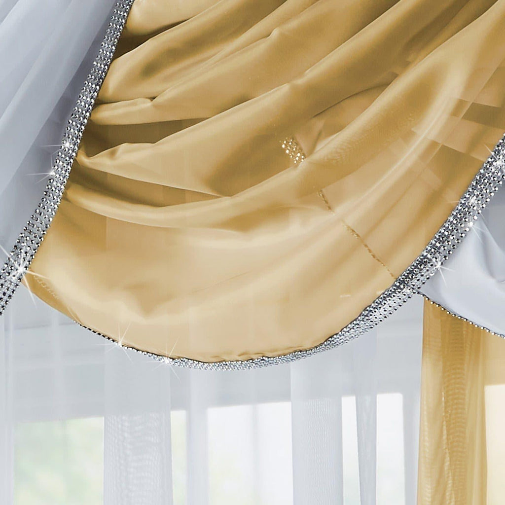 Glitter Voile Curtain Swags - Ideal Textiles