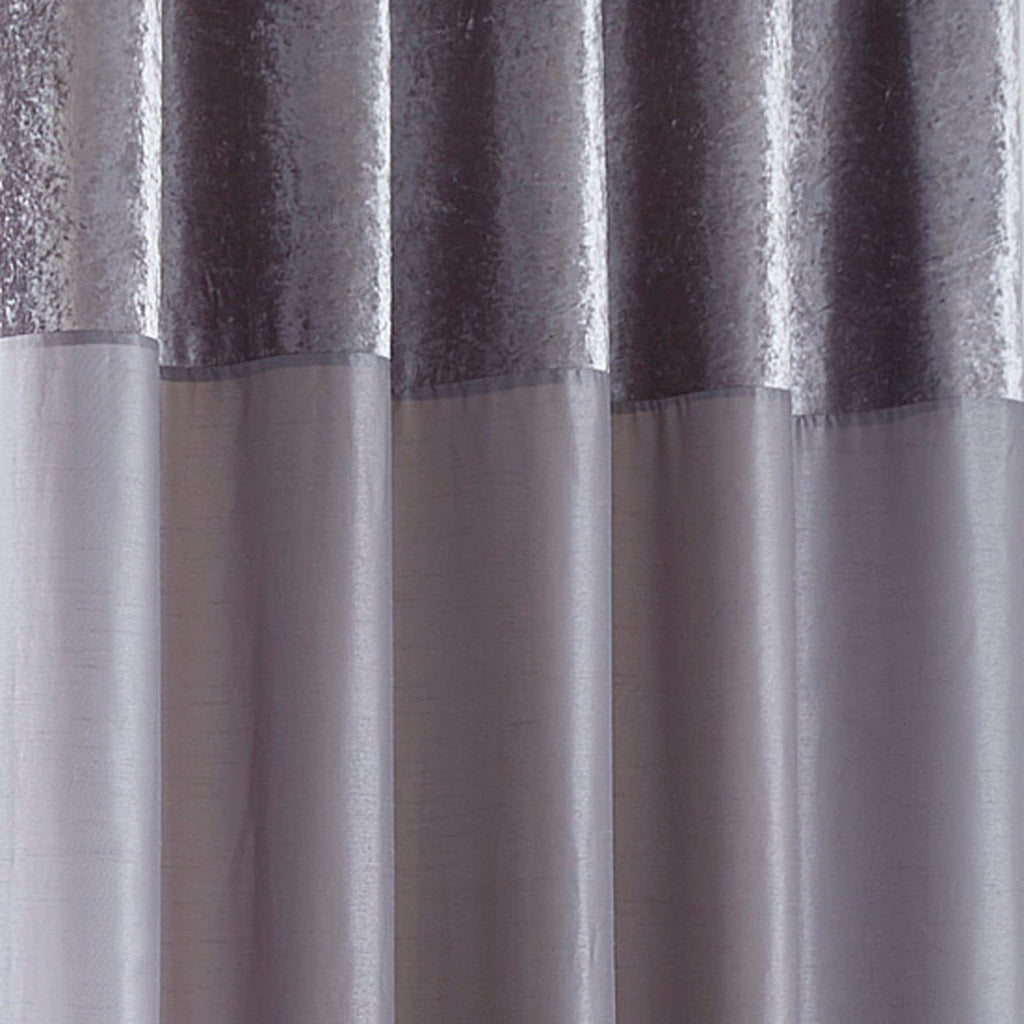 Boulevard Grey Lined Eyelet Curtains