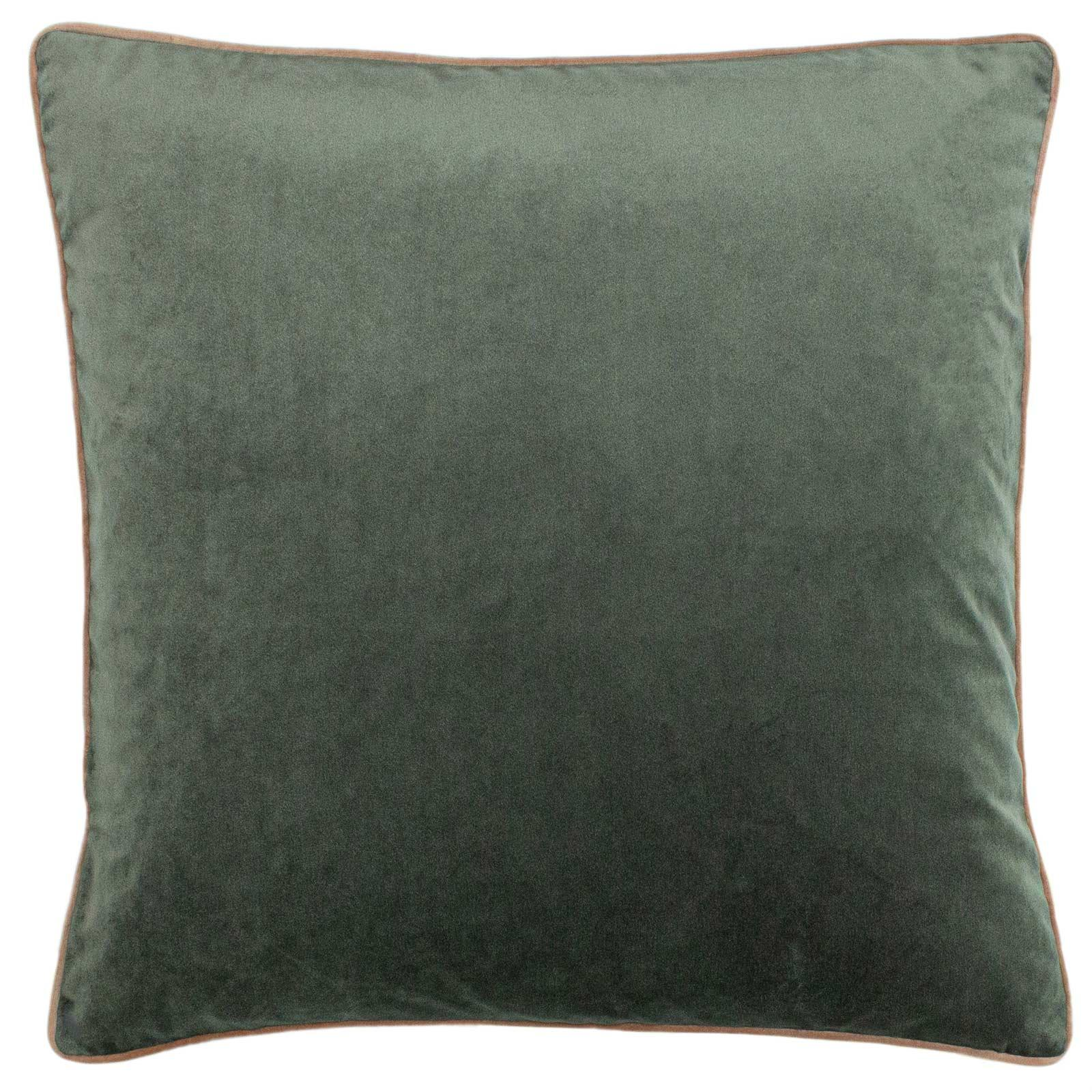 Gemini Velvet Double Piped Grey Filled Cushions 20'' x 20'' -  - Ideal Textiles