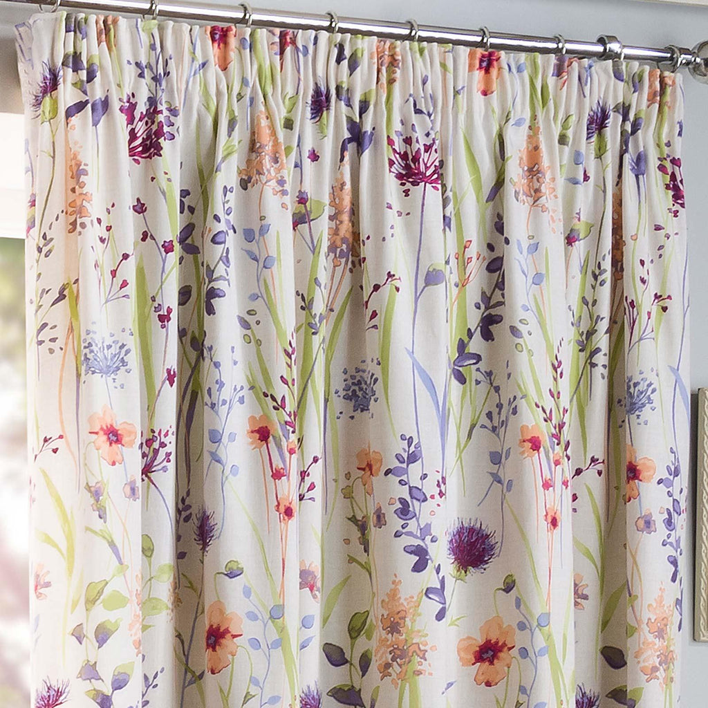 Hampshire Lined Tape Top Curtains Multi - Ideal Textiles