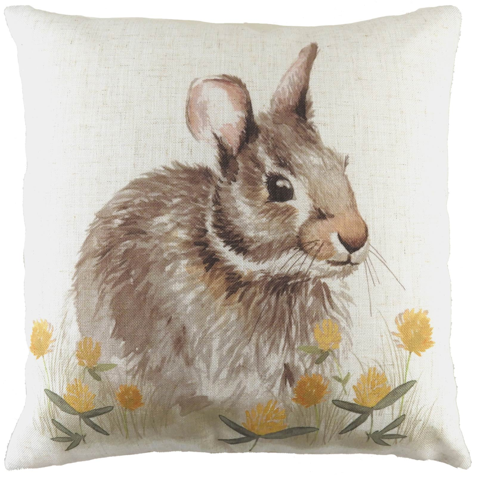 Woodland Hare Watercolour Natural Cushion Covers 17'' x 17'' -  - Ideal Textiles