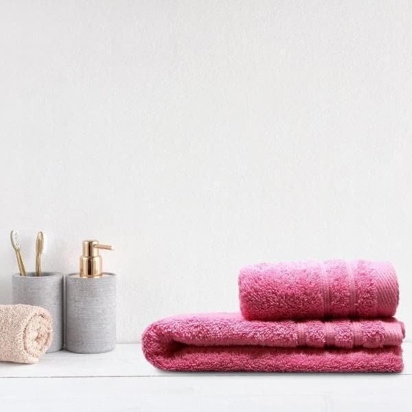 Crieff 100% Cotton 580gsm Towels Candy Pink - Ideal Textiles