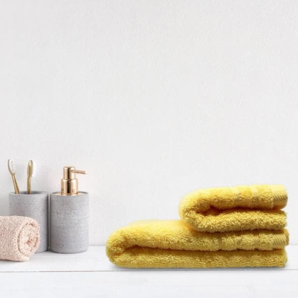 Ideal Textiles Towels Crieff 100% Cotton 580gsm Towels Honey Yellow