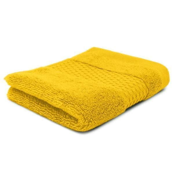 Moffat 100% Cotton Zero Twist Towels Yellow - Ideal Textiles