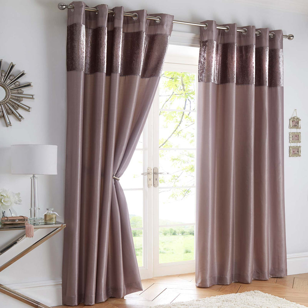 Boulevard Mink Lined Eyelet Curtains