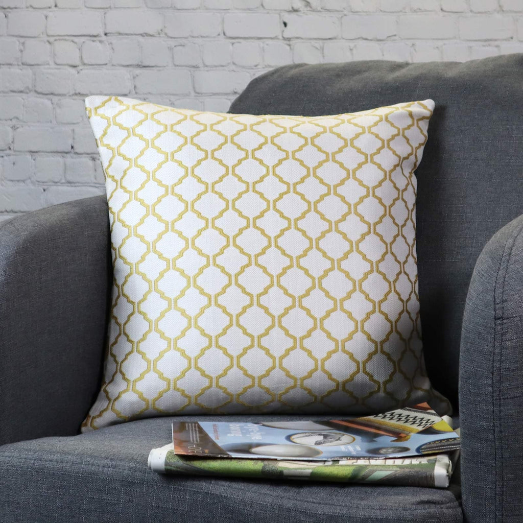 Cotswold Ochre Cushion Covers 22'' x 22'' - Ideal Textiles