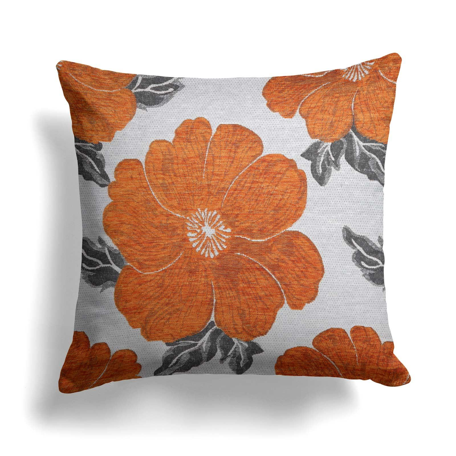 "Kira Poppy Orange Cushion Covers 22"" x 22"" -  - Ideal Textiles"