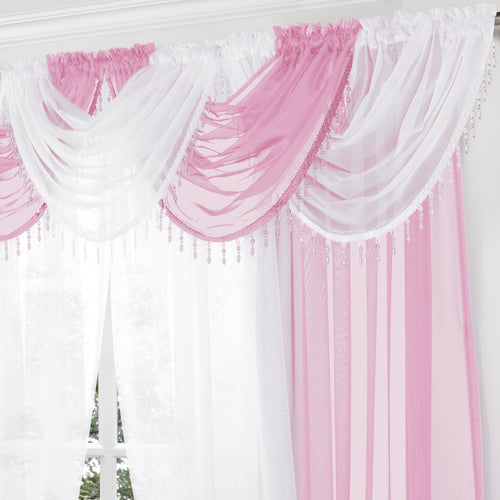 Halo Lined Eyelet Curtains Pink