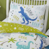 Roarsome Duvet Covers Green - Ideal Textiles