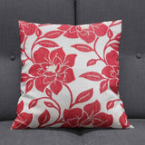Peony Red Cushion Covers 18'' x 18'' - Ideal Textiles
