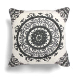 "Rocco Interiors Filled Cushion Lombok Filled Cushion Grey 17"" x 17"""