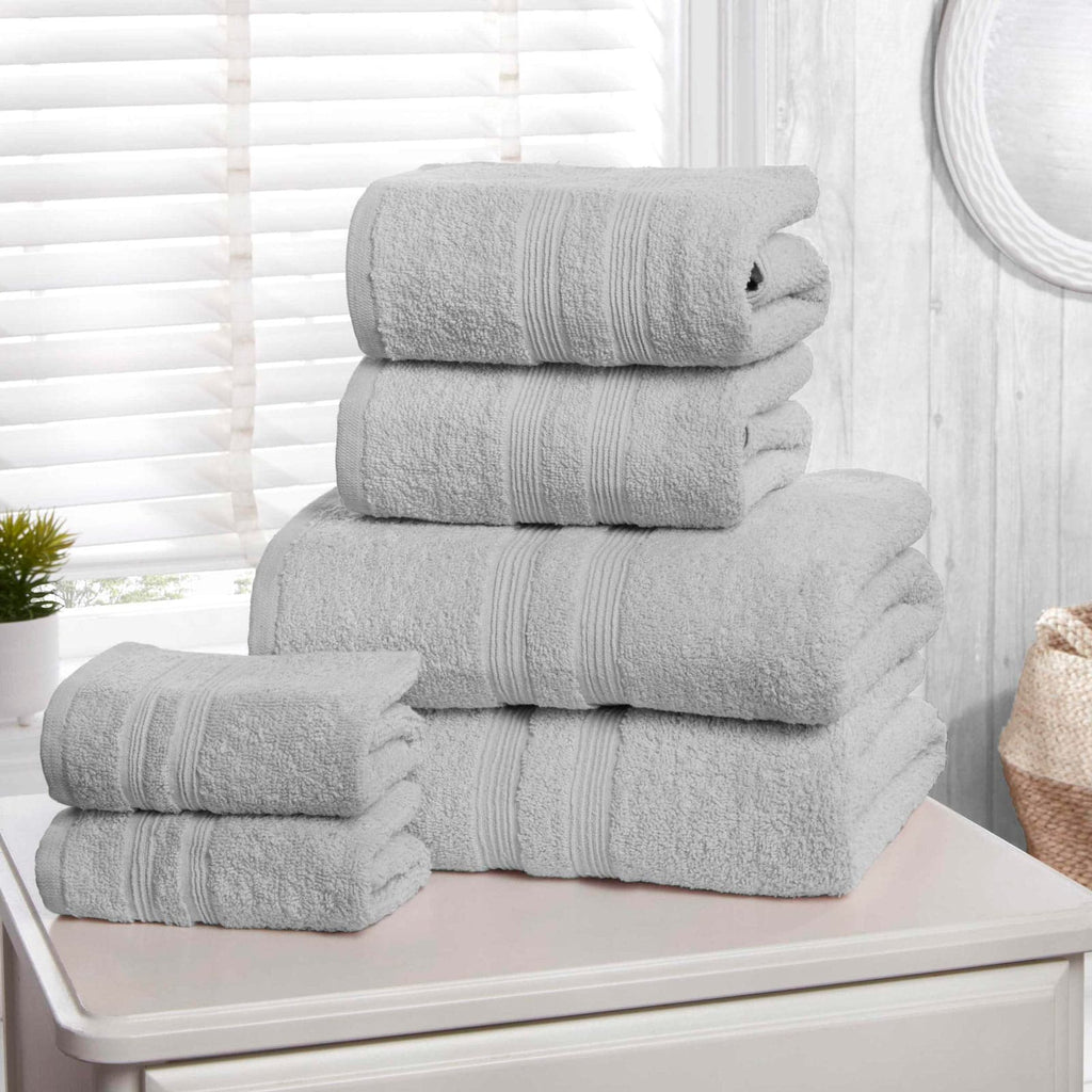 Camden Grey 6 Piece Towel Bale Set - Ideal Textiles