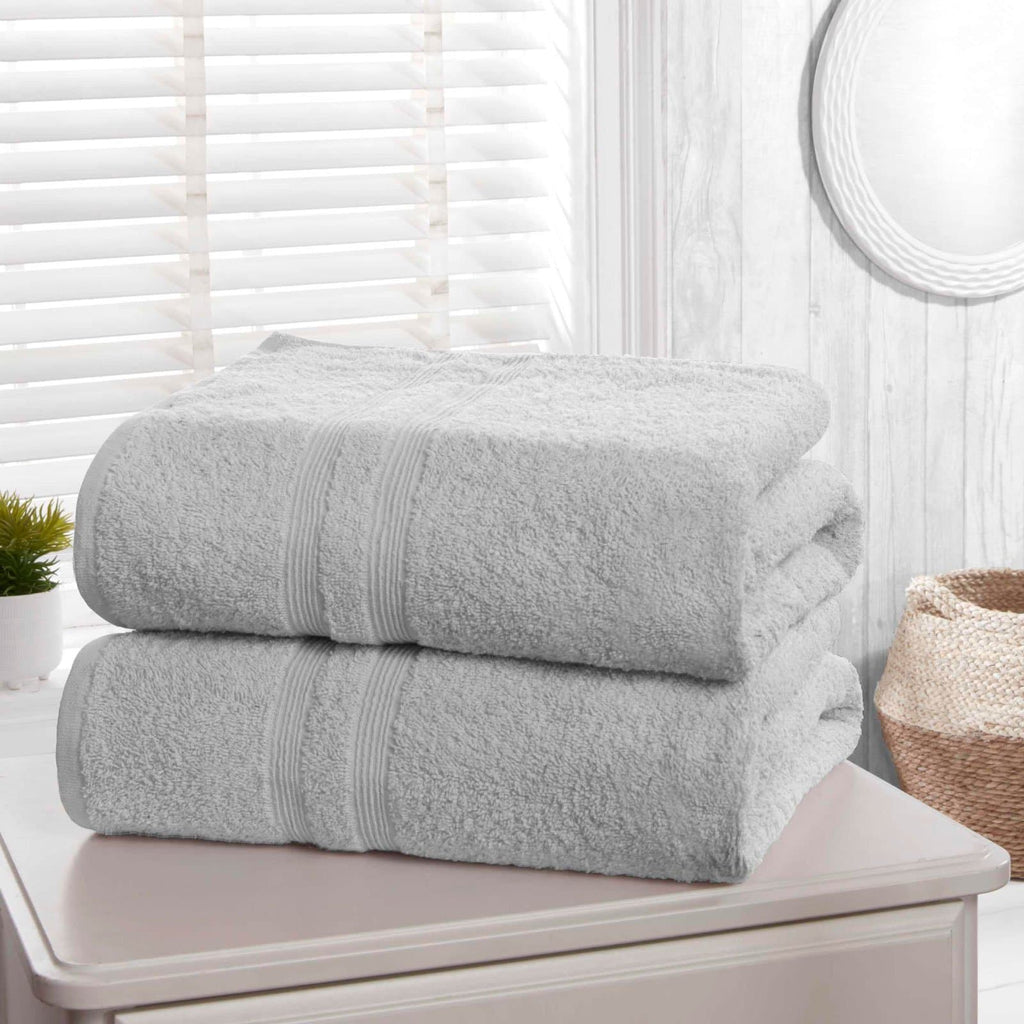 Camden Grey 2 Piece Bath Sheet Towel Set - Ideal Textiles