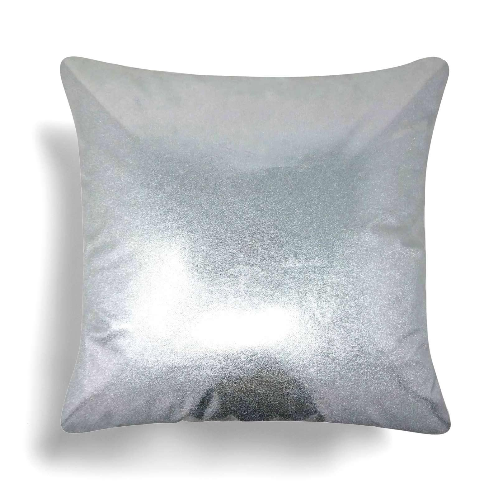"Lux Metallic Silver Cushion Covers 17"" x 17"" -  - Ideal Textiles"