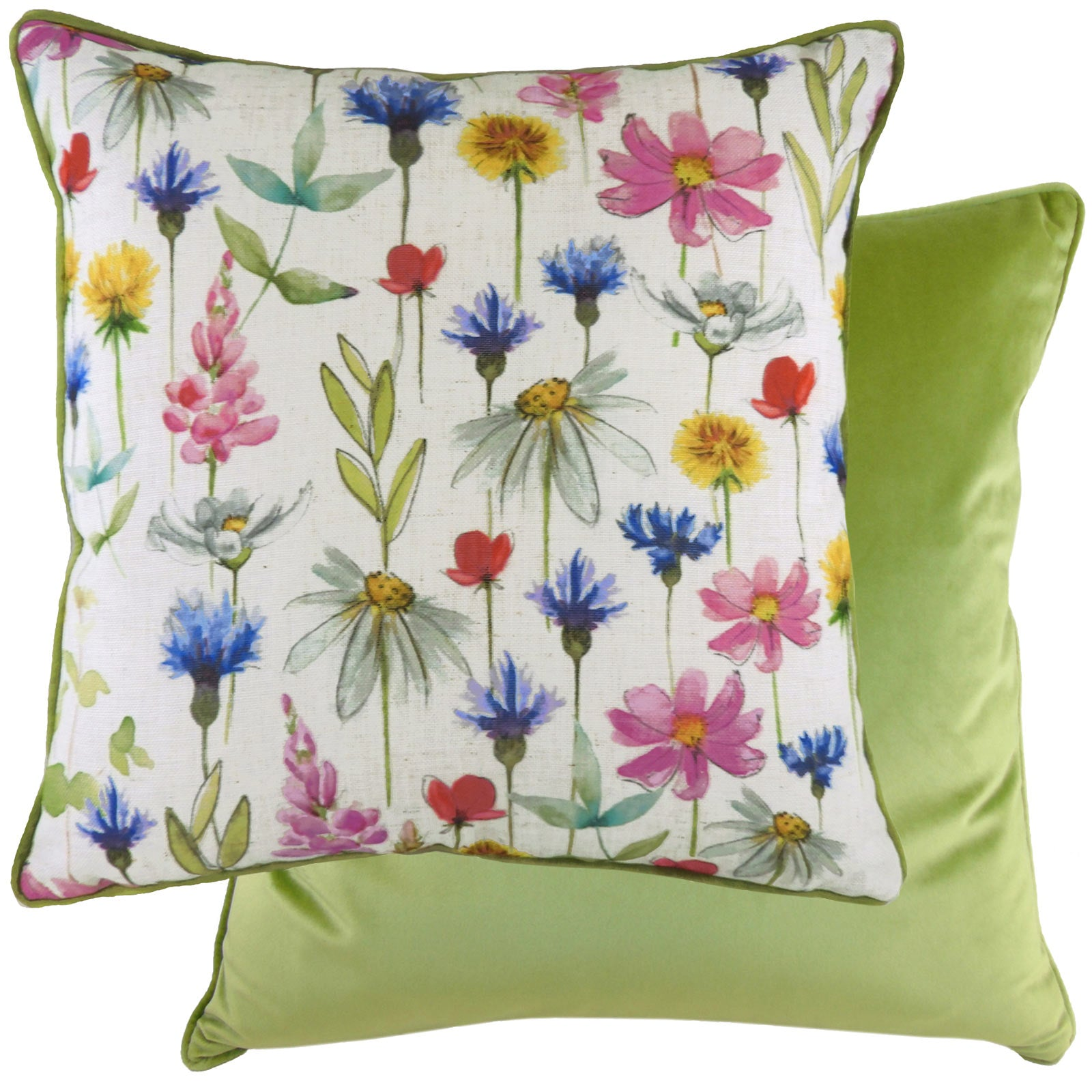 Wild Flowers Sophia Floral Multicolour Cushion Covers 17'' x 17'' -  - Ideal Textiles