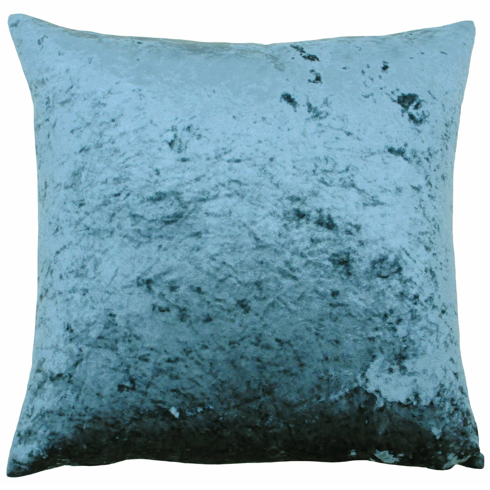 Verona Crushed Velvet Teal Filled Cushions 22'' x 22'' - Polyester Pad - Ideal Textiles