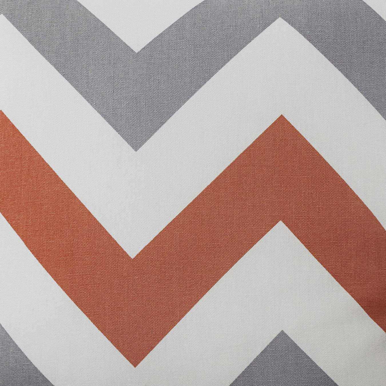 Chevron Stripe Lined Eyelet Curtains Terracotta -  - Ideal Textiles
