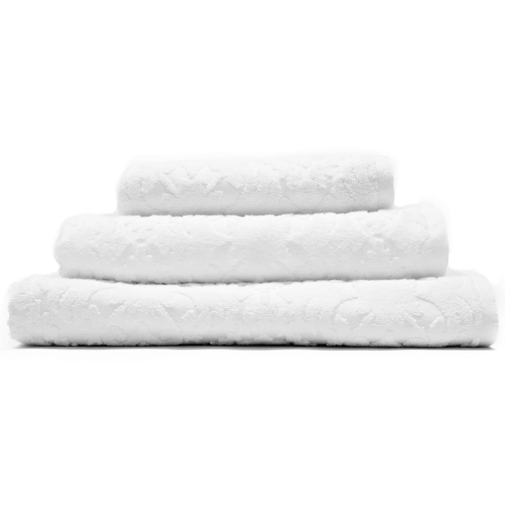 Country House Vintage 3 Piece Towel Bales White - Ideal Textiles