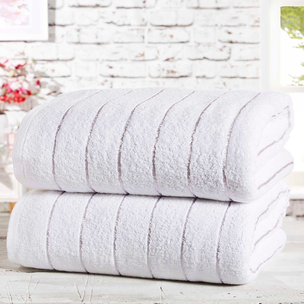 Sandringham 2 Piece Towel Bale White - Ideal Textiles