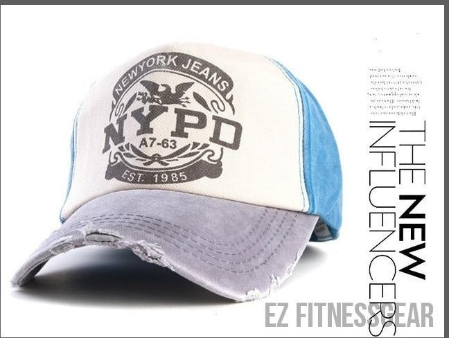 Baseball Cap *SUMMER COLLECTION*-All you want shop-gray and blue-56to61cm-EZ Fitness Gear