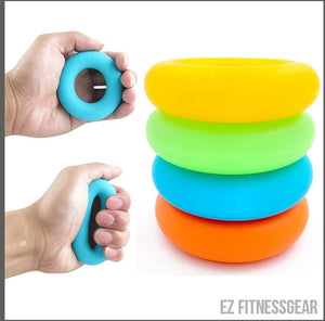 Hand grip strengthener - Strong rubber rings,  - EZ Fitness Gear