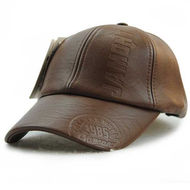 New LEATHER baseball cap, caps - EZ Fitness Gear
