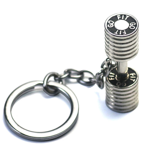 Dumbbell Key Chain Stainless Steel 3 cm gift for father, brother, fitness freak