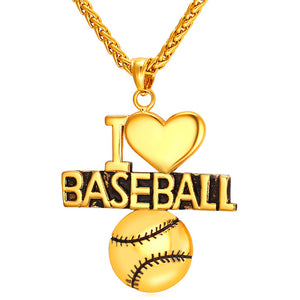 baseball necklace and pendant gold fitness men and women