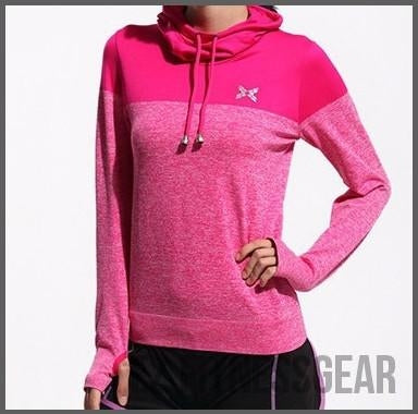 Women's Gym & Fitness long sleeve shirt *Hot Seller*-All you want shop-Rose red-L-EZ Fitness Gear